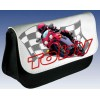 Personalised Racing Motor Bike Pencil Case / Handheld Games Console Case