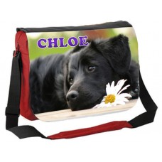 Large School / College Personalised Messenger Bag (Labrador Puppy)