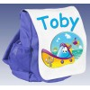 Kids Personalised Boat Ruck Sack School Bag (Available in Red / Blue)