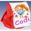 Kids Personalised Fairy Ruck Sack School Bag (Available in Red / Blue)