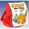 Kids Personalised Dinosaur Ruck Sack School Bag (Available in Red / Blue)