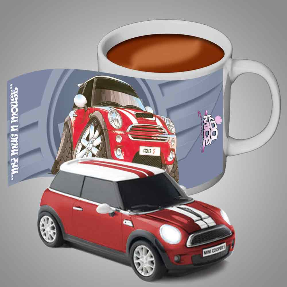 BMW mini cooper computer mouse & FREE Personalised Mug